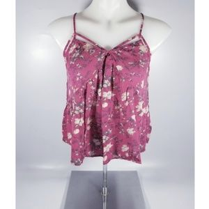 American Eagle Outfitters- Pink Floral TankTop- XS